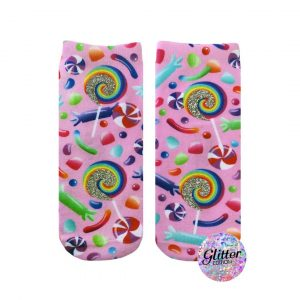 LIVING ROYAL CANDY GLITTER ANKLE SOCKS