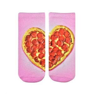 LIVING ROYAL HEART PIZZA ANKLE SOCKS