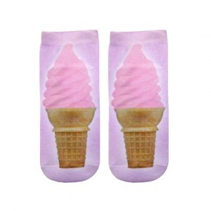 LIVING ROYAL ICE CREAM CONE ANKLE SOCKS