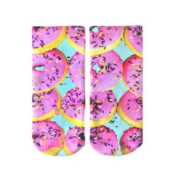 LIVING ROYAL PINK DONUTS ANKLE SOCKS
