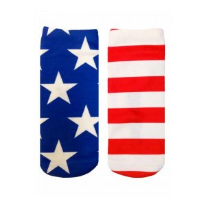 LIVING ROYAL STARS AND STRIPES ANKLE SOCKS