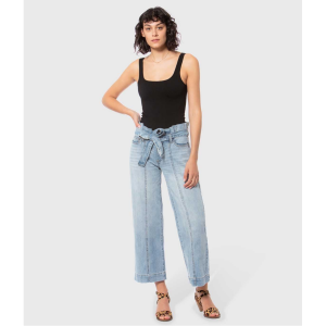 LOLA JEANS NIK LIGHT BLUE HIGH RISE WIDE LEG JEANS