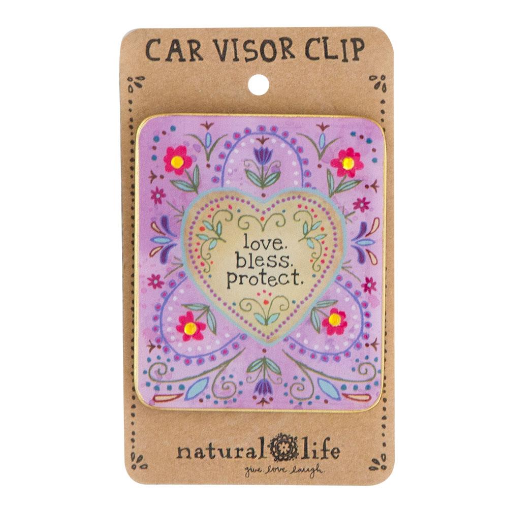 LOVE BLESS PROTECT VISOR CLIP