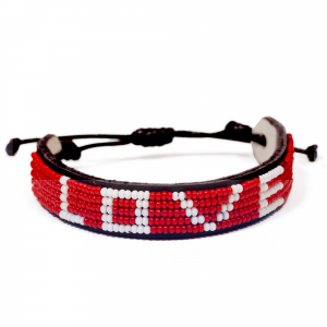 LOVE IS PROJECT BEADED LOVE BRACELET