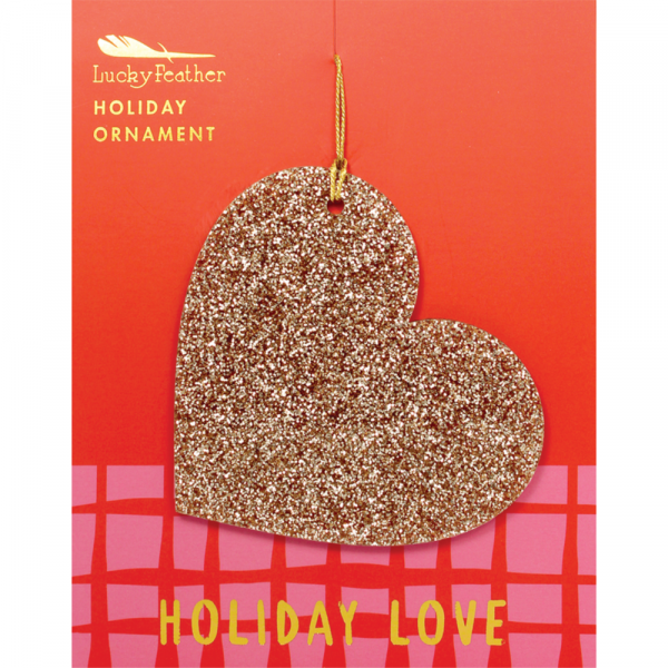 LUCKY FEATHER GLITTER ORNAMENT