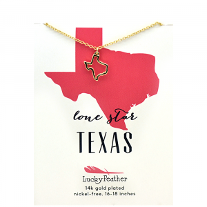 LUCKY FEATHER TEXAS STATE NECKLACE