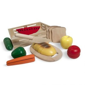 MELISSA AND DOUG CUTTING FOOD - WOODEN PLAY FOOD