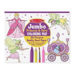 MELISSA AND DOUG JUMBO COLORING PAD - PRINCESS AND FAIRY