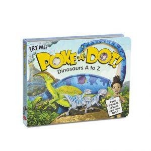 MELISSA AND DOUG POKE-A-DOT DINOSAURS A TO Z BOARD BOOK