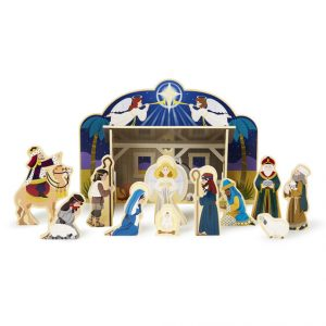 MELISSA AND DOUG WOODEN CHRISTMAS NATIVITY SET