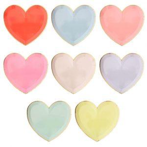 MERI MERI LARGE PASTEL PALETTE HEART PLATES