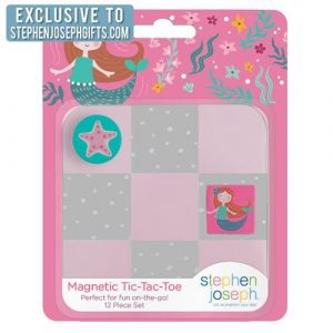 STEPHEN JOSEPH MERMAID MAGNETIC TIC TAC TOE