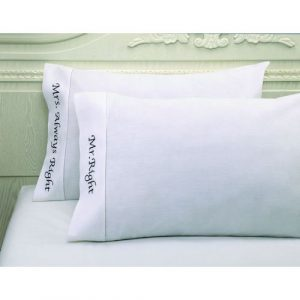 MR RIGHT & MRS ALWAYS RIGHT PILLOWCASES