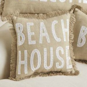 MUDPIE BEACH HOUSE PILLOW