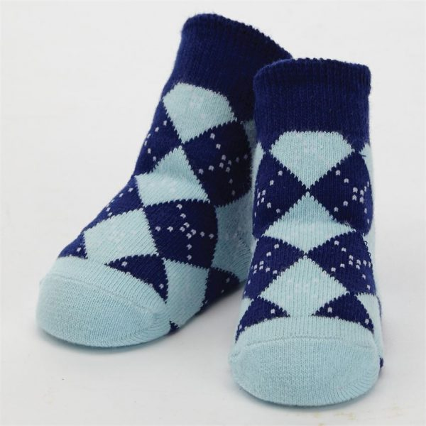 MUDPIE BLUE ARGYLE SOCKS
