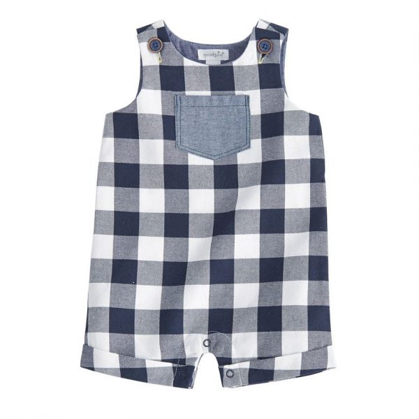 MUDPIE BLUE GINGHAM SHORTALL