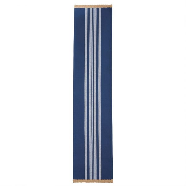 MUDPIE BLUE JUTE TRIM TABLE RUNNER
