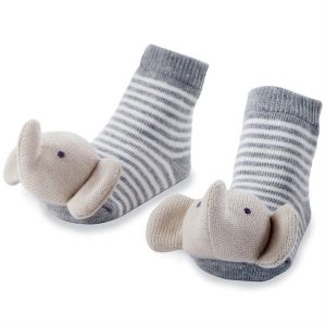 MUDPIE ELEPHANT RATTLE TOE SOCKS
