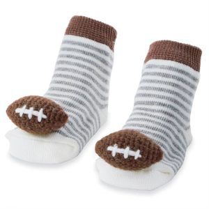 MUDPIE FOOTBALL RATTLE TOE SOCKS
