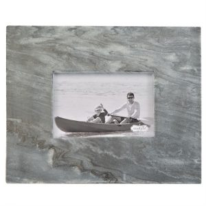 MUDPIE GRAY MARBLE RAW EDGE FRAME
