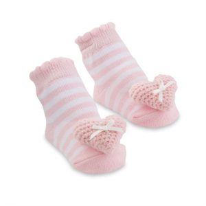 MUDPIE HEART RATTLE TOE SOCKS