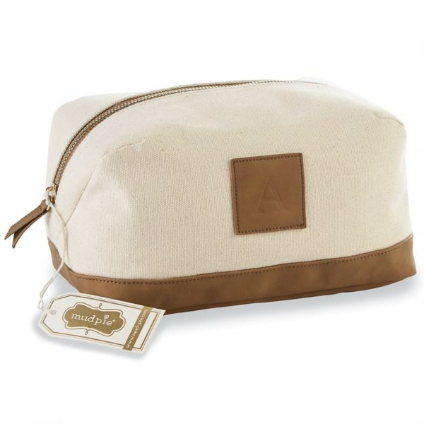 MUDPIE INITIAL TRAVEL POUCH