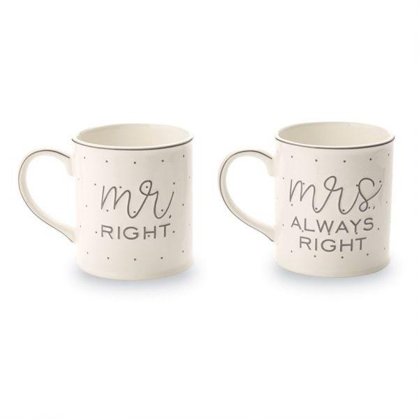 MUDPIE MR AND MRS BOXED MUG SET