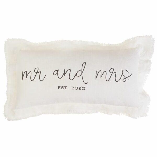 MUDPIE MR & MRS EST 2020 PILLOW