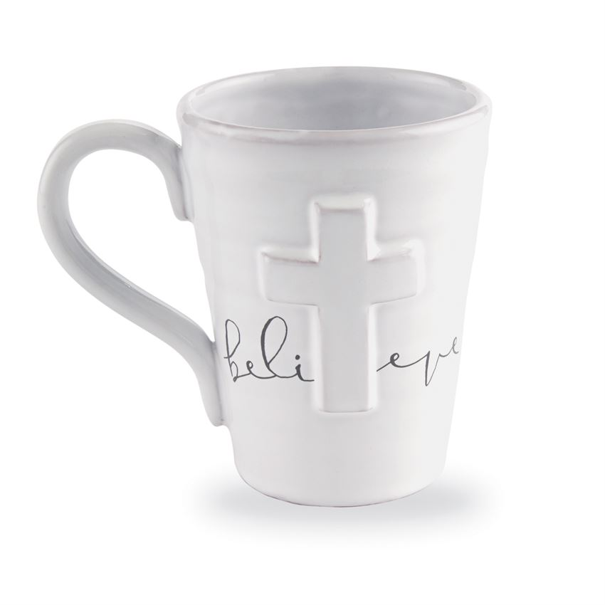 MUDPIE PAZITIVE CROSS MUGS