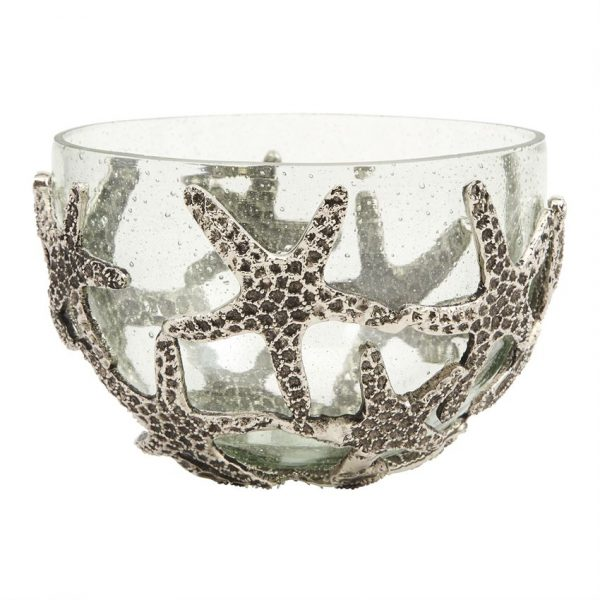 MUDPIE STARFISH GLASS SERVING BOWL