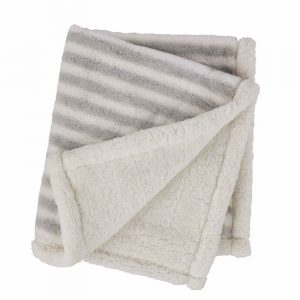 MUDPIE STRIPED FAUX FUR BLANKETS