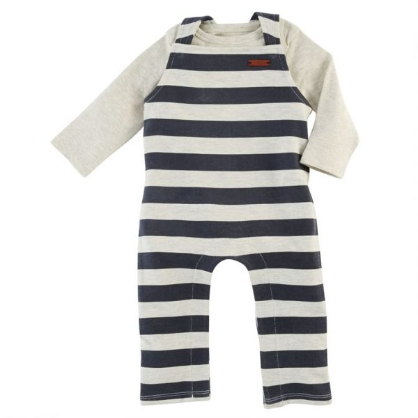 MUDPIE STRIPED OVERALL SET