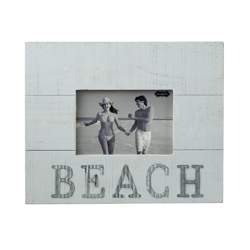 MUDPIE WOOD AND TIN BEACH FRAME