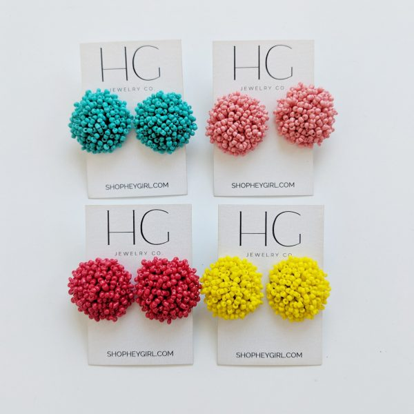 MUMS BEADED STUD EARRINGS