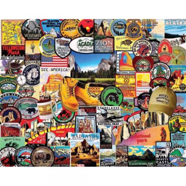 WHITE MOUNTAIN PUZZLES NATIONAL PARK BADGES PUZZLE