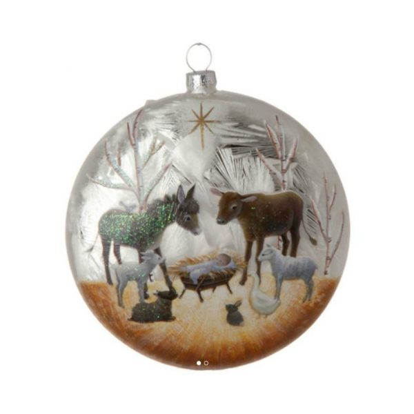 NATIVITY DISC ORNAMENT