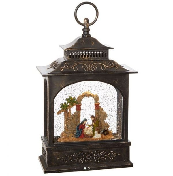 NATIVITY LIGHTED WATER LANTERN