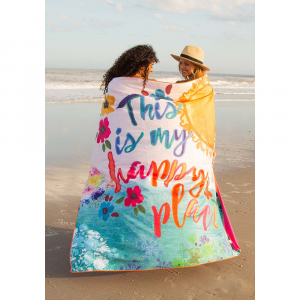 NATURAL LIFE HAPPY PLACE BEACH TOWEL