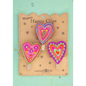 NATURAL LIFE HEART MAGNET HAPPY CLIPS