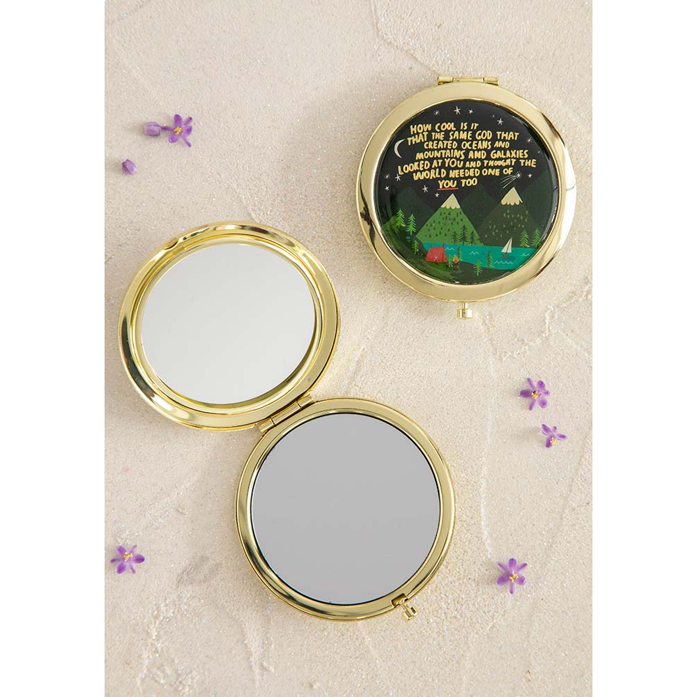 Natural Life How Cool Is God Compact Mirror Magpies Gifts