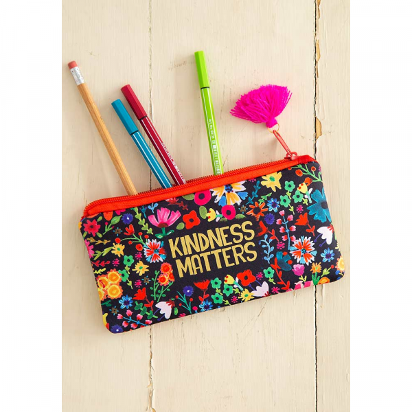 NATURAL LIFE KINDNESS MATTERS PENCIL POUCH