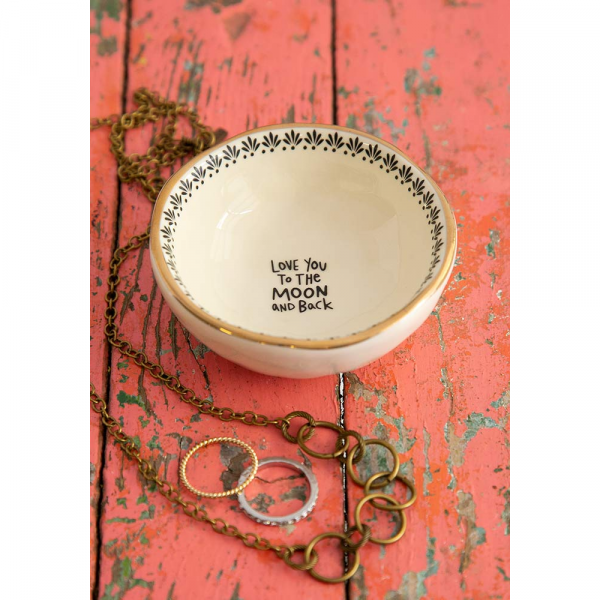 NATURAL LIFE TO THE MOON AND BACK TRINKET DISH