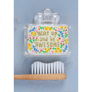 NATURAL LIFE WAKE UP AND BE AWESOME TOOTHBRUSH COVER