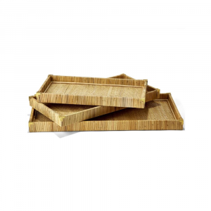 NATURAL RATTAN TRAYS