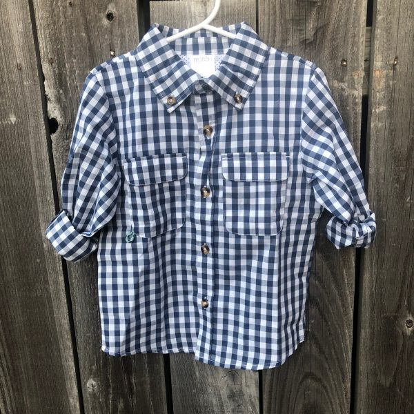 PRODOH NAVY GINGHAM SHIRT