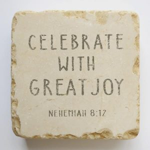 NEHEMIAH 8:12 SMALL STONE BLOCK