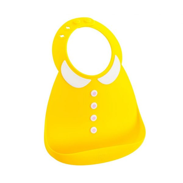 NEVER GROW UP YELLOW BIB
