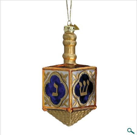 NOBLE GEMS JEWISH DREIDEL ORNAMENT