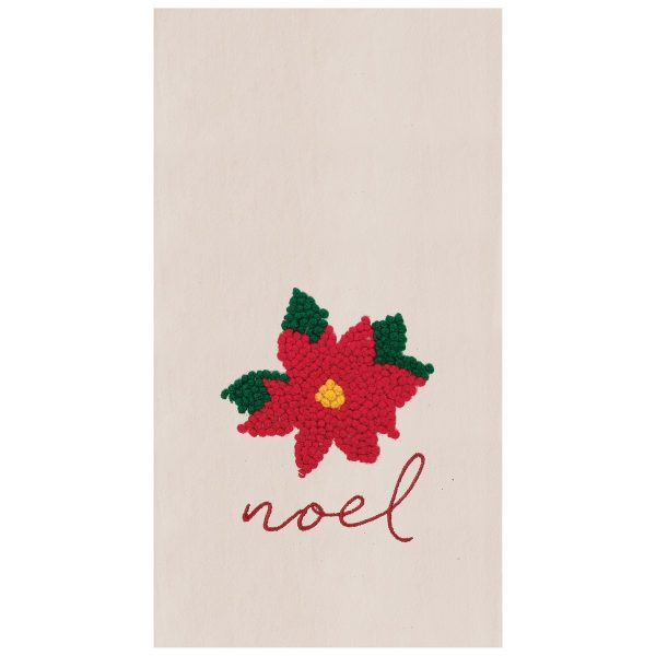 NOEL POINSETTIA TOWEL