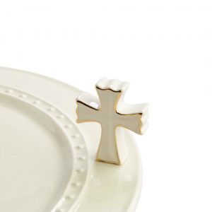 NORA FLEMING MINI WHITE CROSS